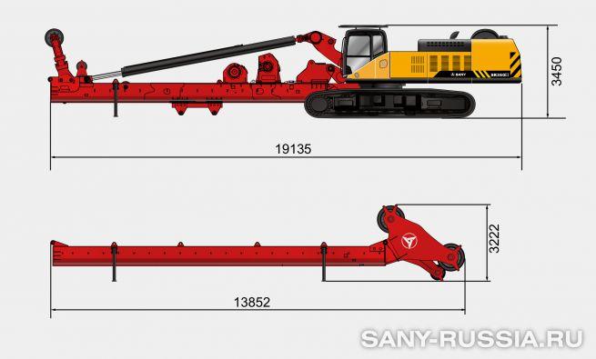 Буровая установка SANY SR360 III в транспортном положении