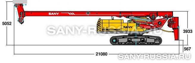Буровая установка SANY SR360 в транспортном положении (вариант 1)