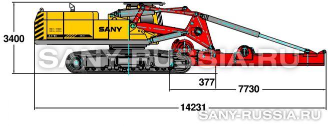 Буровая установка SANY SR360 в транспортном положении (вариант 2)