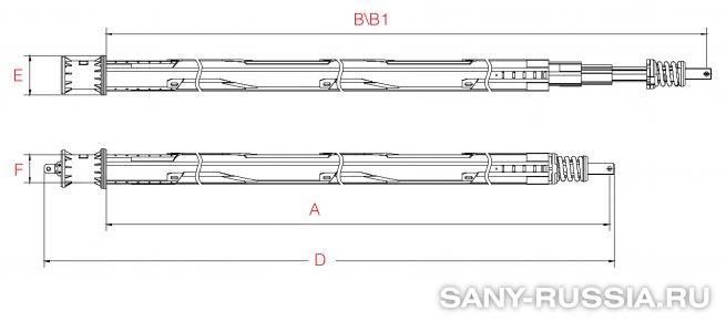 Фрикционная келли-штанга для SANY SR420 II