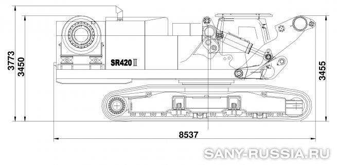 Буровая установка SANY SR420 II в транспортном положении