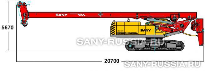 Буровая установка SANY SR420 в транспортном положении (вариант 1)
