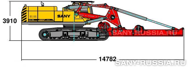 Буровая установка SANY SR420 в транспортном положении (вариант 2)