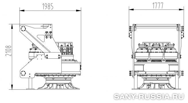 Привод ротора буровой установки SANY SR460