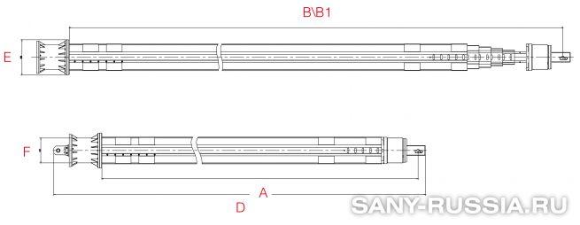 Фрикционная келли-штанга для SANY SR460