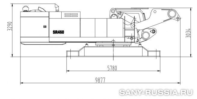 Буровая установка SANY SR460 в транспортном положении