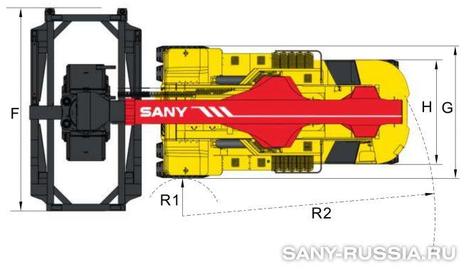 Размеры ричстакера SANY SRSC4032C3-S