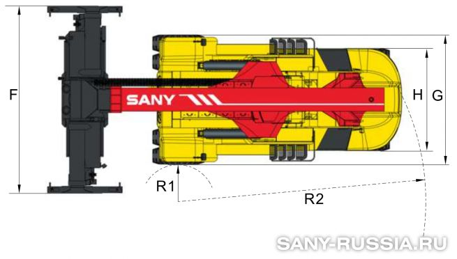 Размеры ричстакера SANY SRSC45C2-P