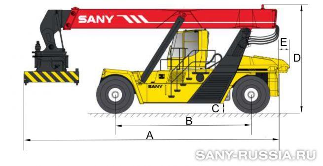 Размеры ричстакера SANY SRSC45C2