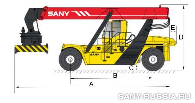 Размеры ричстакера SANY SRSC45C3