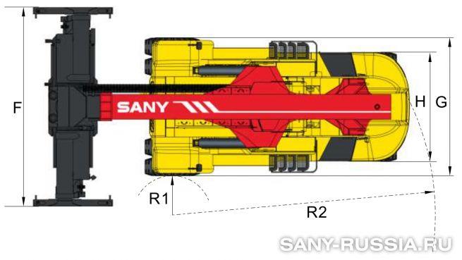 Размеры ричстакера SANY SRSC45F3