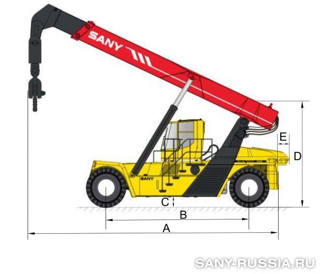 Размеры ричстакера SANY SRST50C-H