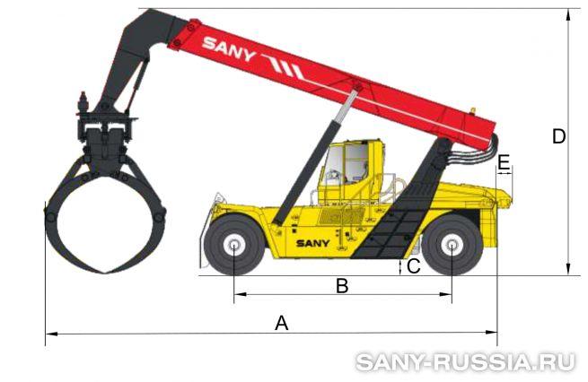 Размеры ричстакера SANY SRSW31C